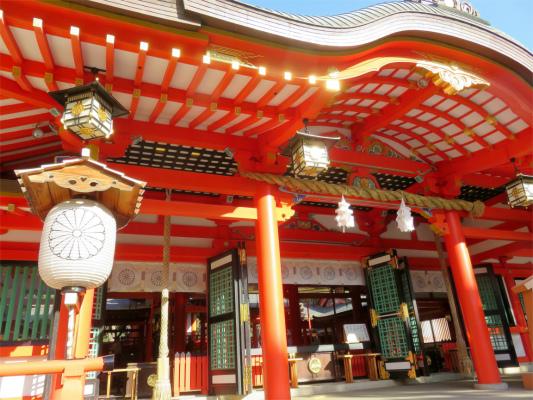 生田神社の彫刻