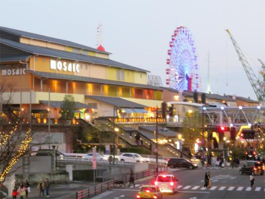 神戸ハーバーランドのMOSAIC周辺