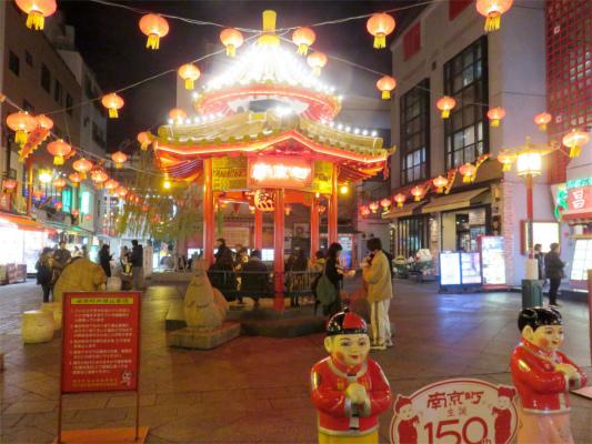 南京町の中心にある広場