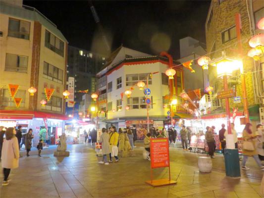 神戸南京町の中心部の様子