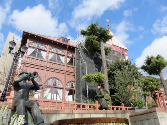 風見鶏の館周辺銅像