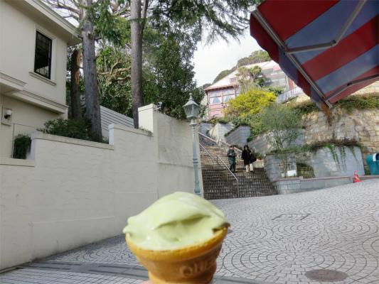 プレミアムピスタチオのソフトクリーム