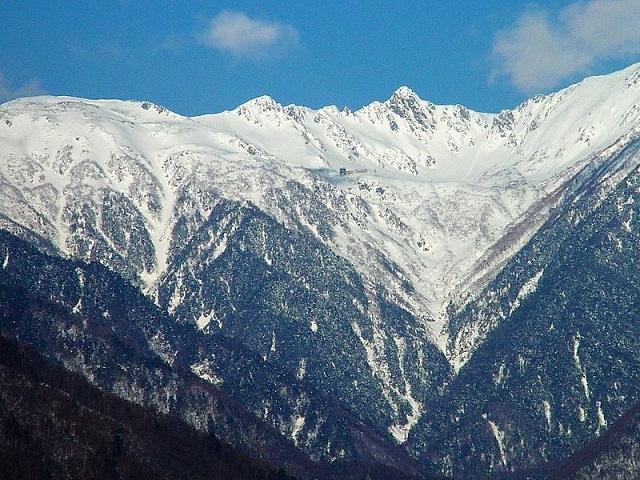 中央アルプス宝剣岳周辺のの景色