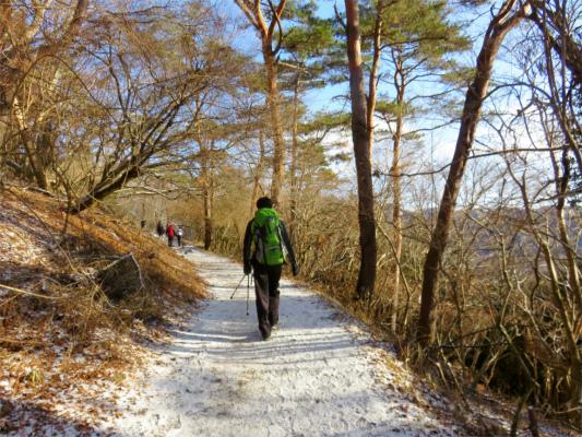 登山者歩き方