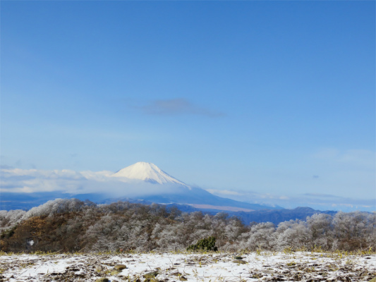 丹沢からみる富士山