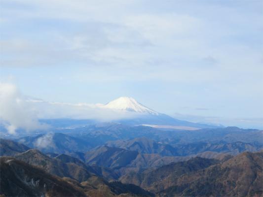 塔ノ岳からの富士山の景色