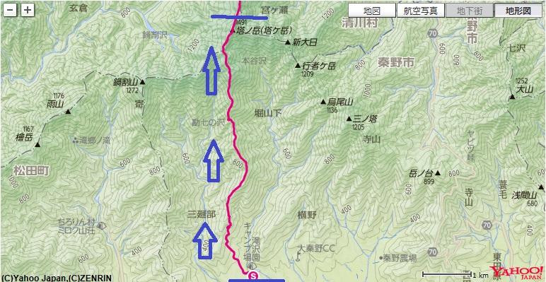 大倉尾根~見晴茶屋~花立山荘~塔ノ岳への冬登山ルート