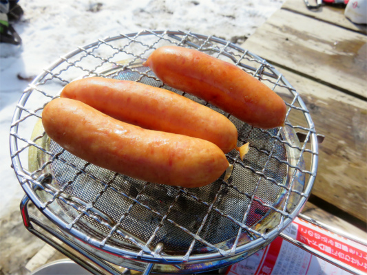 ウインナー焼けたつまみ食い