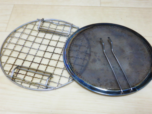日帰り登山のヤマメシで焼肉を作った時に使った焼網
