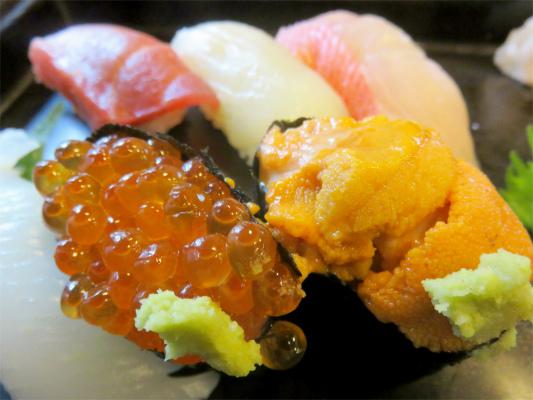 だるま料理店寿司ウニにイクラ