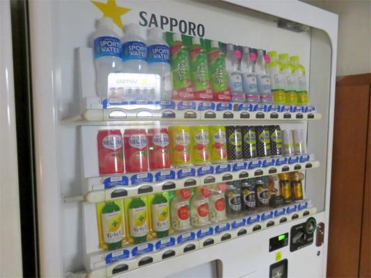 天山の休憩室自動販売機