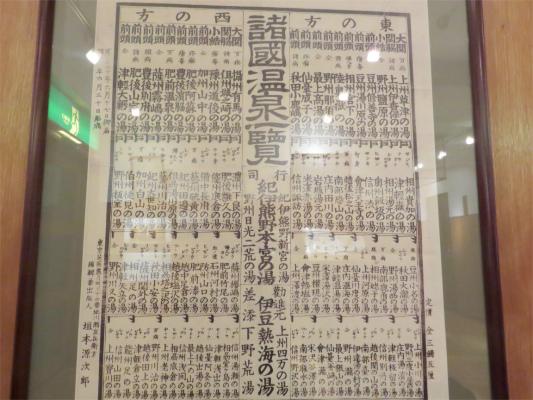 温泉の番付表