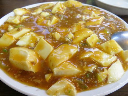 お食事あまのチョット物足りない麻婆豆腐