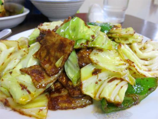 中華料理豚肉とキャベツの味噌炒め