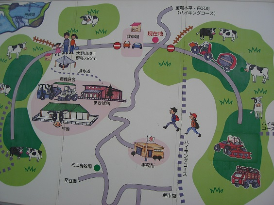 大野山ハイキングコースの地図