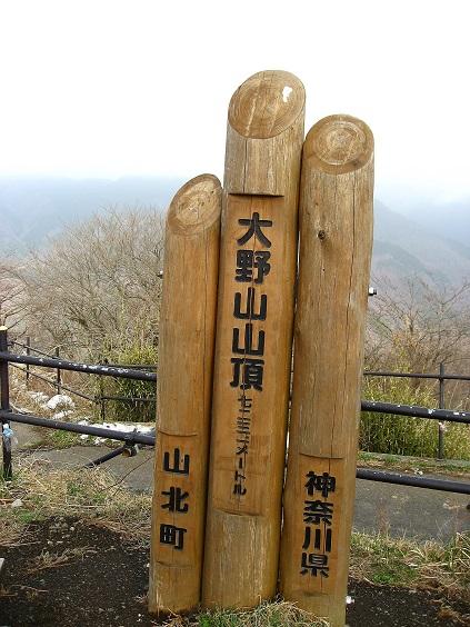 大野山の標高は、723m