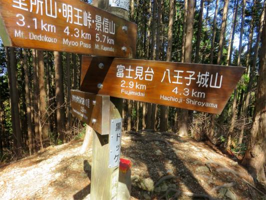 黒ドッケ堂平山まで3kmの道のり