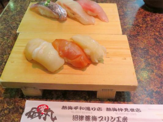 磯丸のお寿司のネタとシャリの大きさ