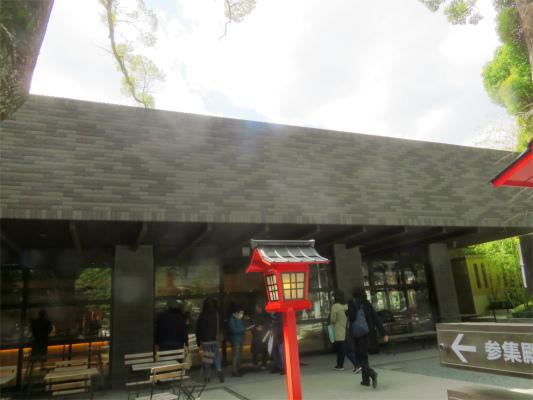 来宮神社社務所の入口