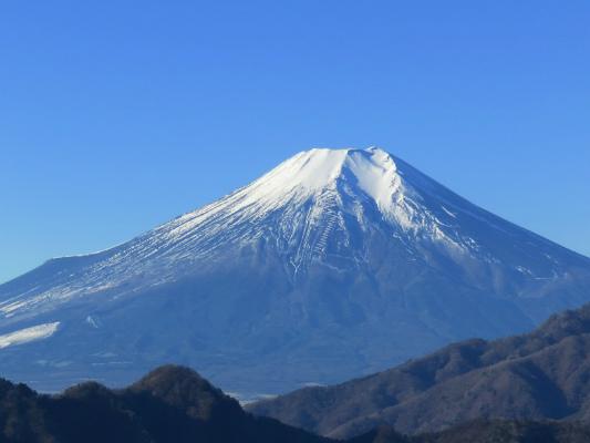 道志山塊日帰り登山富士山の景色