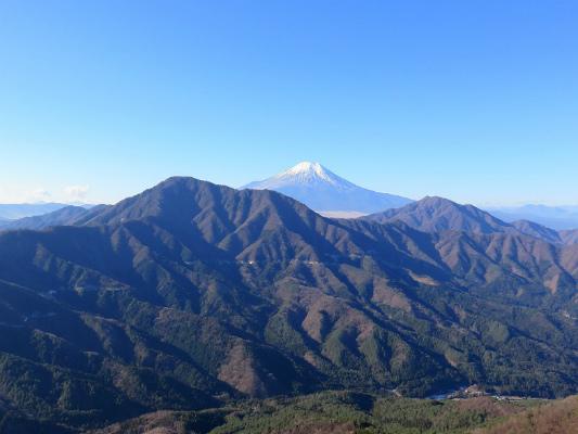 赤岩(松山)も富士山の展望が素晴らしく