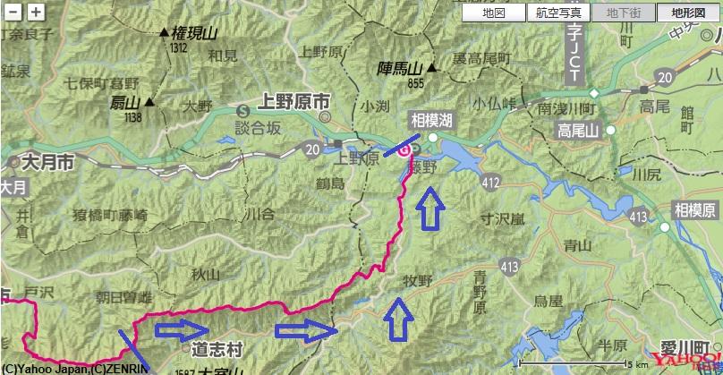 菜畑山から出発し、赤鞍ヶ岳~ウバガ岩~ムギチロ~峰山への登山ルート