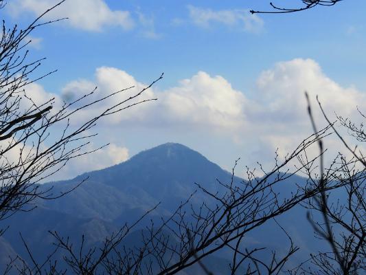 細茅ノ頭(中ノ入山)から峰山を目指して進む丹沢山塊最高峰の蛭ヶ岳