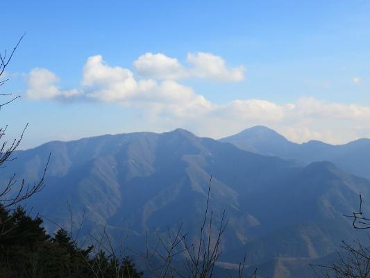 厳道峠付近から丹沢山方面
