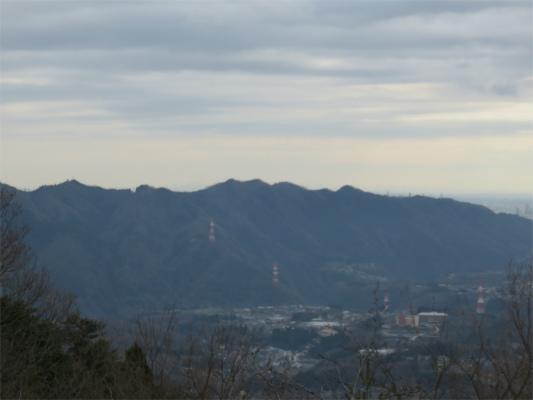 大明神山高尾山方面の景色