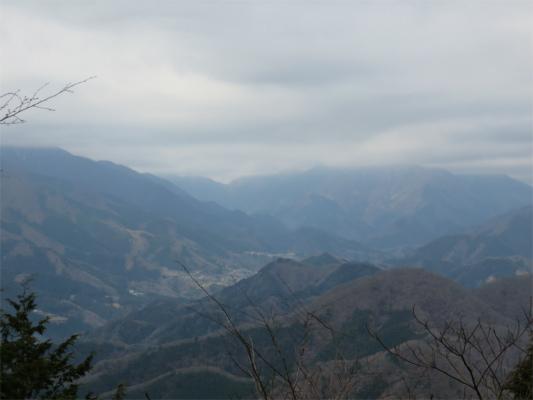 丹沢方面の景色石老山