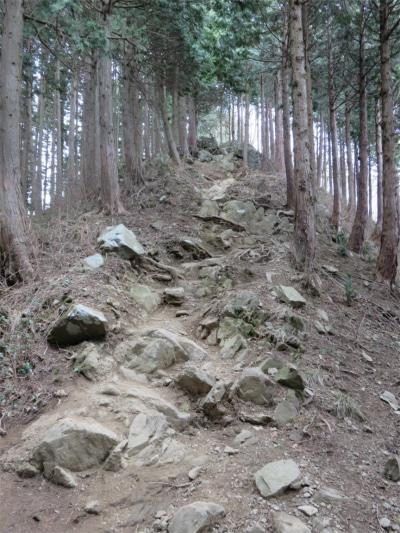 石老山直下の急登