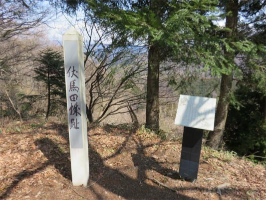 伏馬田城址の山頂
