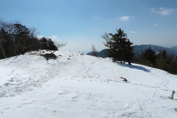 大菩薩連嶺の縦走路一面銀世界