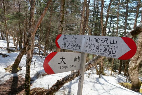 黒岳・大峠の分岐