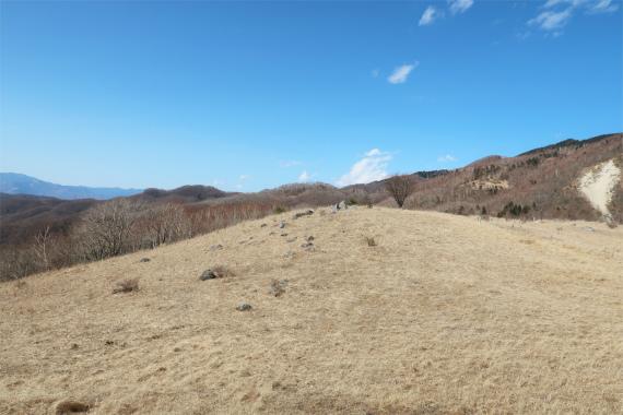湯ノ沢峠のお花畑だだっ広い土地
