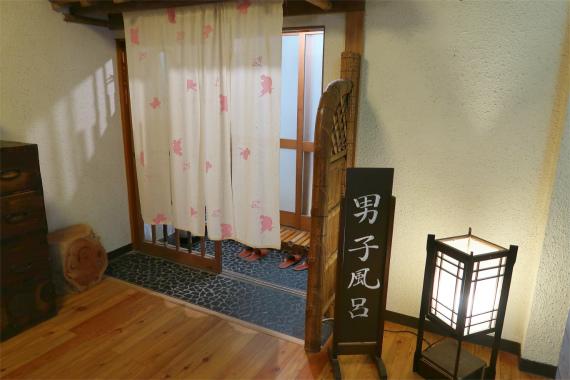 玉翠荘の男子風呂の入口