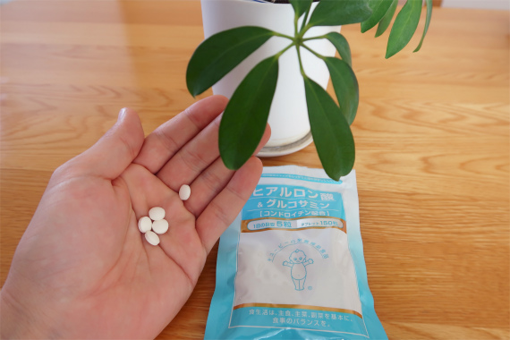 キユーピヒアルロン酸&グルコサミンの実物1日5粒でOK
