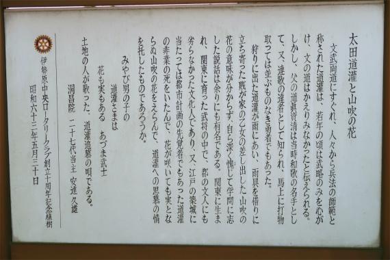 太田道灌山吹の花の話