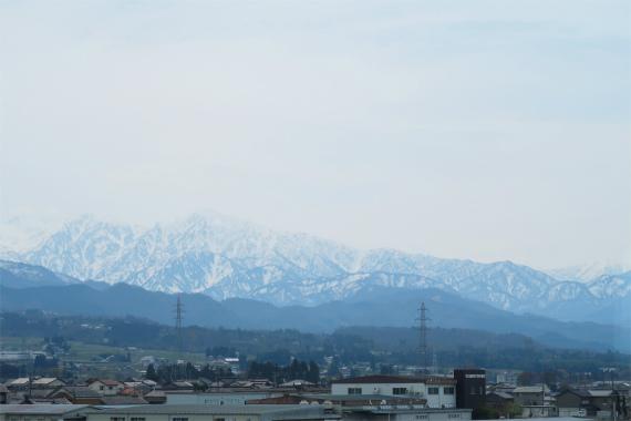 北陸新幹線景色遠望