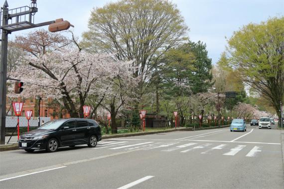 金沢市内香林坊周辺の様子