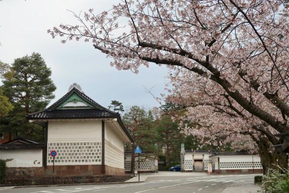 金沢赤レンガ倉庫周辺直ぐお隣が兼六園