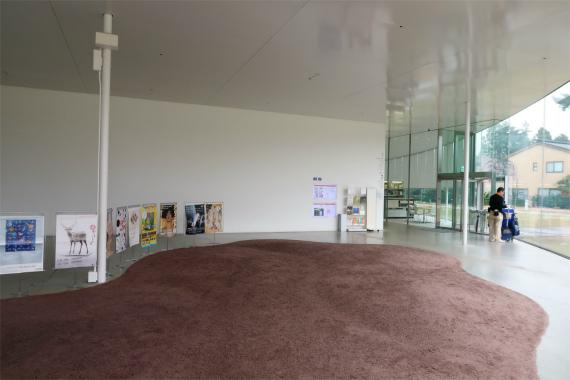 21世紀美術館の中展示物の案内の掲示