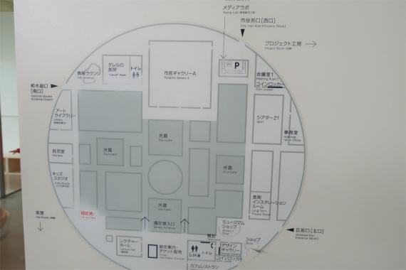 21世美術館の内部の配置図