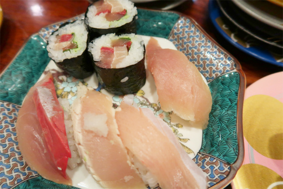白身魚の盛り合わせ寿司