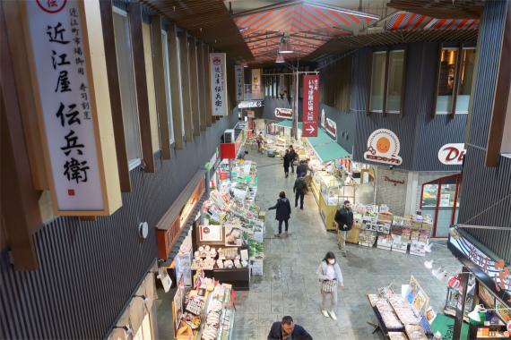 近江町市場は2階建て施設