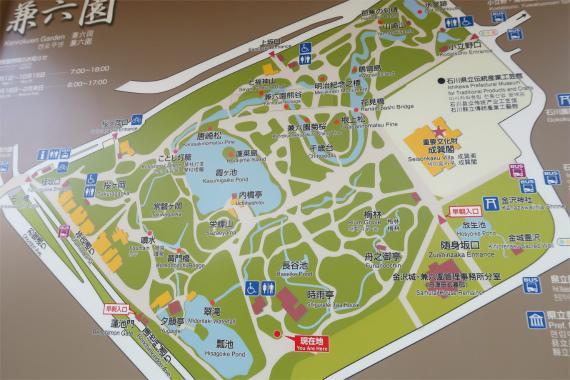 兼六園は広いエリアマップ