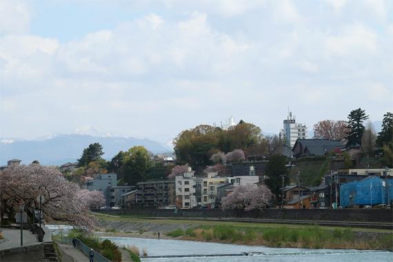 金沢から白山の山並み