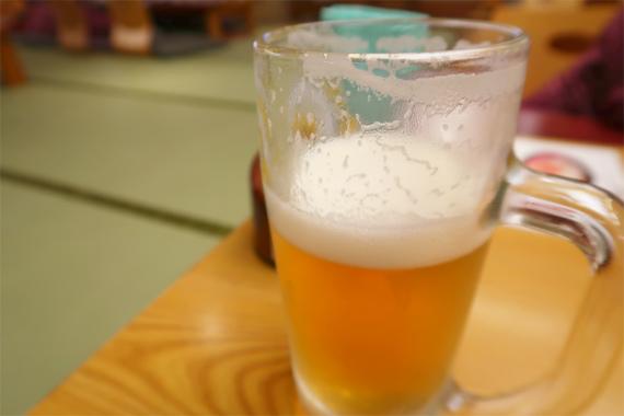 お食事処の生ビール