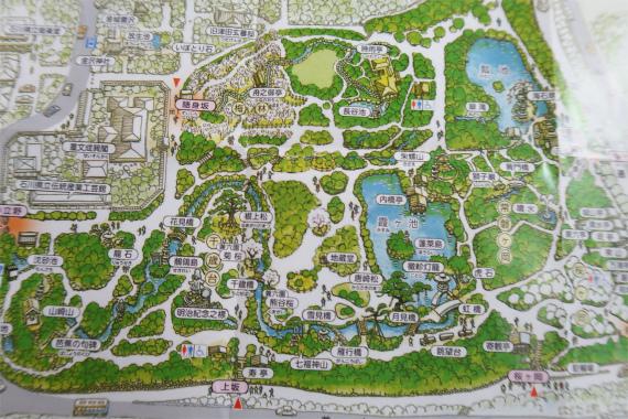 兼六園の園内マップ