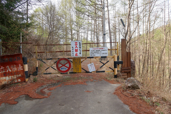 亀田林業所のゲート
